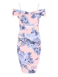 Jane Norman Hydrangea Print Bardot Dress Multi Coloured Multi Coloured