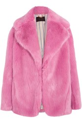 J.Crew Madison Faux Fur Coat Pink