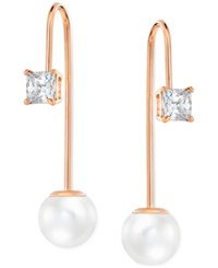 Swarovski Imitation Crystal Pearl Linear Drop Earrings