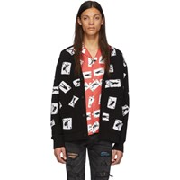 Amiri Black Cashmere Cards Cardigan