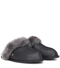 Ugg Scuffette Ii Sparkle Wool Slippers Grey