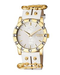 Versus By Versace Miami Crystal Round 40Mm Women's Watch Golden White