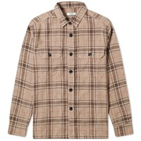 Tres Bien Box Overshirt Brown