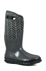 Bogs Classic Tall Badge Waterproof Snow Boot Dark Grey Multi