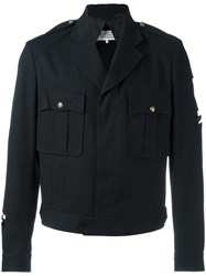 Maison Martin Margiela Cut Out Military Jacket Black