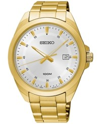 Seiko Men's Special Value Gold Tone Stainless Steel Bracelet Watch 42Mm Sur212