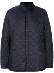 Barbour Heritage Liddesdale Quilted Jacket Cotton Polyamide Polyester S Blue