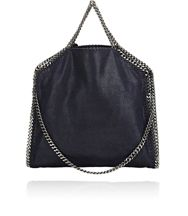 Stella Mccartney Falabella Shaggy Deer Foldover Tote Blue Navy
