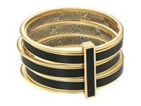 House Of Harlow The Titaness Leather Bangle Black Bracelet