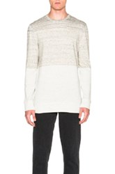 Helmut Lang Gradient Heather Terry Crewneck Sweatshirt In Gray