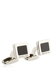 Chopard Onyx And Stainless Steel Cufflinks