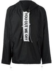 Off White 'You Cut Me Off' Anorak Jacket Black