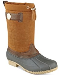 Tommy Hilfiger Romea Rain Boots Women's Shoes Brown