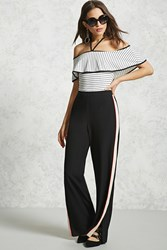 Forever 21 Contemporary Palazzo Pants Black Peach