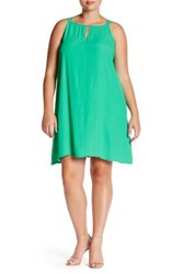 Bb Dakota Sleeveless Trapeze Dress Plus Size Green