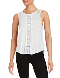Dex Mesh Accented Tank Top White