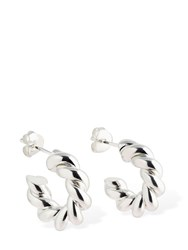 Isabel Lennse Xs Twisted Loops Hoop Earrings Silver