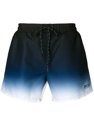 Hugo Boss Tonal Gradient Swim Shorts Black