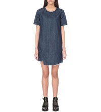 Allsaints Mira Denim Dress Indigo Blue