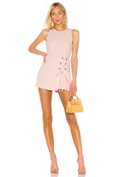 Bcbgeneration Lace Up Romper Pink