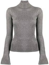 Veronica Beard Shimmer Ribbed Knit Jumper 60