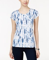 Styleandco. Style And Co. Tie Dyed T Shirt Only At Macy's Denim Blue Combo