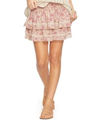 Denim And Supply Ralph Lauren Floral Print Tiered Gauze Skirt Floral Mu