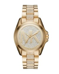 Michael Michael Kors 43Mm Jet Set Crystal Bracelet Watch Gold