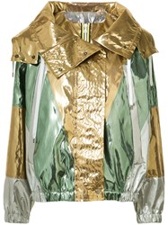 N 21 No21 Hooded Jacket Women Polyester Polyurethane 48 Metallic