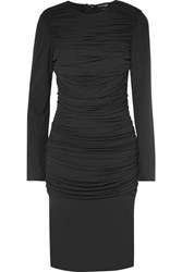 Tom Ford Ruched Jersey Dress Black