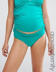 Asos Maternity Fold Over Bikini Bottom Bahamas Green