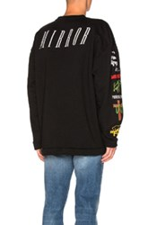 Off White Mix Rock Crewneck In Black