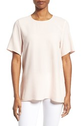 Eileen Fisher Women's Silk Crepe Round Neck Boxy Top Shell