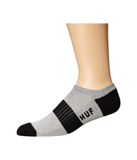 Huf Original Logo No Show Heather Gray No Show Socks Shoes