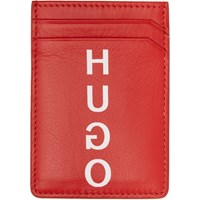 Hugo Red Money Clip Card Holder