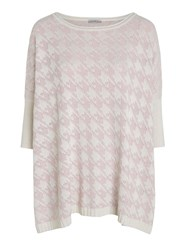 Marella Currier Dogtooth Jumper Cream