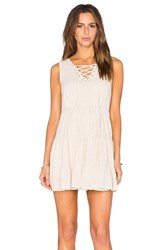 Toby Heart Ginger Molly Peasant Dress Beige