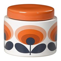 Orla Kiely Storage Jar 70S Orange Oval Flower Small