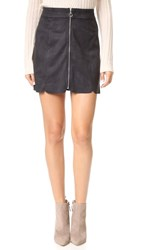 Wayf Warwick Zip Up Miniskirt Black
