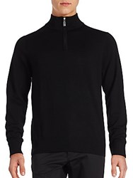 Tailorbyrd Solid High Neck Sweater Black