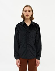 Saturdays Surf Nyc Perry Velveteen Long Sleeve Shirt In Black Size Small 100 Cotton