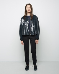 Alexander Wang Laminated French Terry Windbreaker Petrol