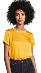 Nation Ltd. Ltd Marie Sateen Boxy Crop Top Dijon