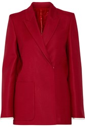 Acne Studios Deana Si Guitar Embellished Wool And Silk Blend Blazer Red