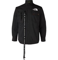 The North Face Black Series Kk Coach Webbing Detailed Shell Overshirt Black