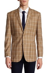 English Laundry Brown Windowpane Two Button Notch Lapel Suit Separates Jacket Green