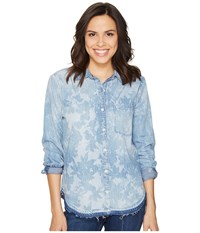 Joe's Jeans Rosalin Shirt Acid Wash Women's Clothing Blue