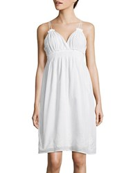 Lord And Taylor Embroidered Dress White