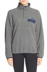 Women's Patagonia 'Synchilla' Lightweight Pullover Nickel Navy Blue