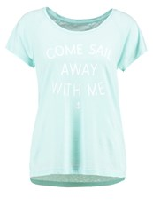 Esprit Sports Sail Away With Me Print Tshirt Light Turquoise